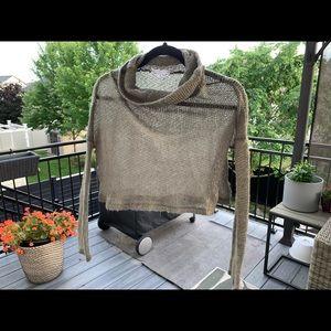 🍄SALE🍄 AE semi-sheer crop cowl neck sweater